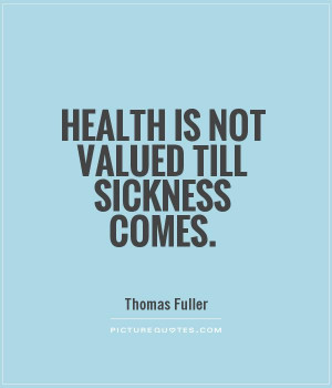 Quotes About Sickness and Health