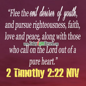 22 Niv, Meaningful Quotes, Pursue Righteous, Timothy, Bible Verses ...