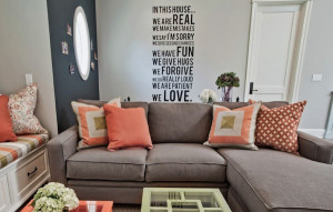 wall decal living room sayings Adding Character To Your Interiors With ...