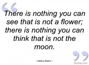 there is nothing you can see that is not a matsuo basho