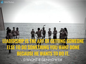 charming life pattern: leadership - quote - dwight eisenhower