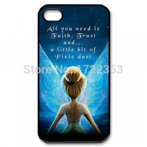 Cute-Tinkerbell-Fairies-Quotes-Cover-Case-for-iPhone-4-4s-5-5s-5c-6 ...