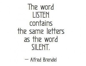 The Word Listen Contains The Same Letters As The Word Silent