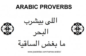Arabic Proverbs - Phrases in Arabic