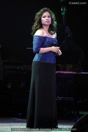 Lea Salonga in Lea Salonga performing in concert at the Queen ...