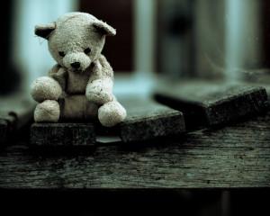 8x10 photograph - Nursery decor - Sad Little Teddy photo - Everything ...