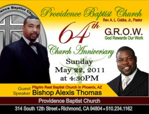 Church Anniversary Theme