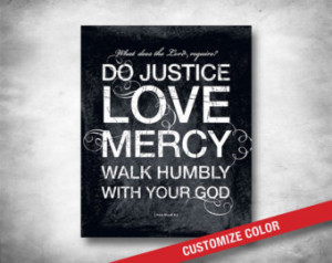 Wall Art - Inspirational Quote - Bible Verse - Micah 6 Do Justice ...