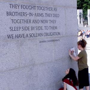 Inspiring Words Grace World War II Memorial Walls