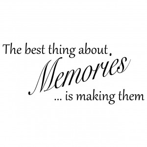Details about The Best Thing About Memories Quote Wall Sticker Wall ...