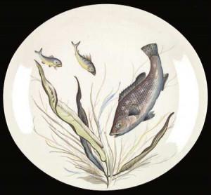 JOHNSON BROTHERS Fish (Oval, Cream) STOCK