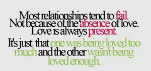 Failed relationships