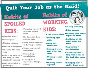 Spoiled Child? Quit as the Maid