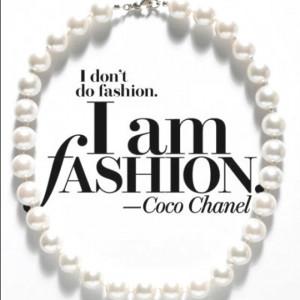 Coco Chanel #Pearls #quote #Fashion