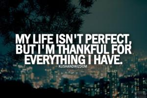 my life isnt perfect