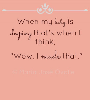 Sleeping Baby Quotes and Sayings