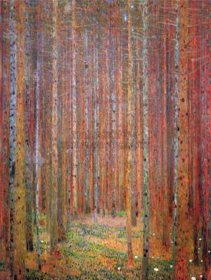 Gustav Klimt Tannenwald Art