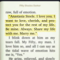 ... Fifty Shades Darker. Christian Grey is truly a born romantic! ♥ More