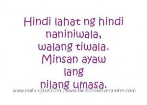 Tagalog Quotes – Mga Patama Love Quotes