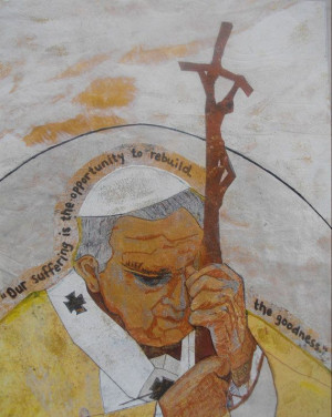 Blessed John Paul II Our suffering is the by CarolColeCatholicArt