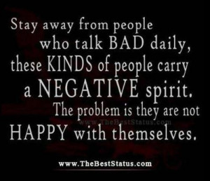 negative people. People who post about negative people in their lives ...