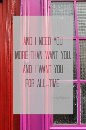 Parisian door // Jimmy Webb quote via MontgomeryFest