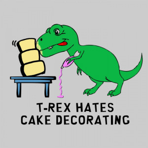 Home T-Shirts & Hoodies T-Rex Hates Cake Decorating