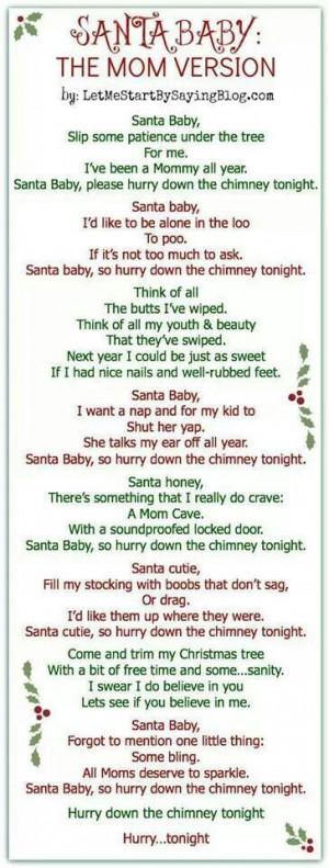 Santa baby mom song