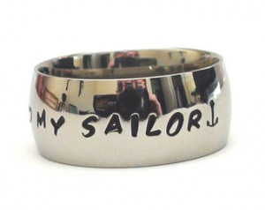 Love My Sailor- Hand Stamped Ring i love my sailor quote ring ...