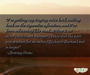 getting my singing voice back, cutting