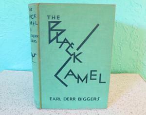 The Black Camel, by Earl Derr Bigge rs, Vintage Hardcover Murder ...