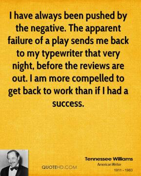 tennessee williams essay on success