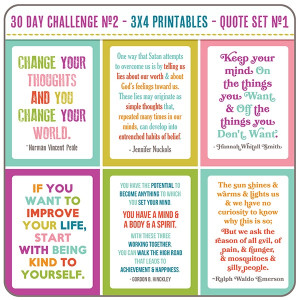 The 30 Day Challenge No.2 - Quote Set #1
