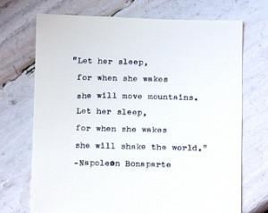 NAPOLEON BONAPARTE quote typed on a 1931 Royal vintage typewriter ...