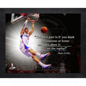 Blake Griffin LA Clippers Pro Quotes Framed 16x20 Photo