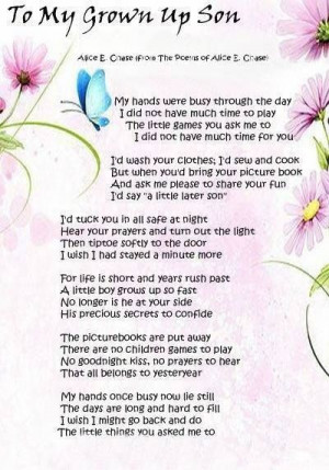 ... my grown up Son - My hands were busy #Poem ...   Words & Sayings