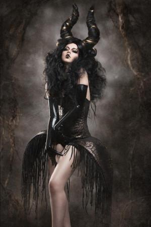 beautiful, black, dark, demonic, evil