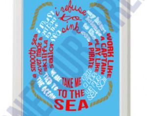 Life Preserver Nautical Quote Print