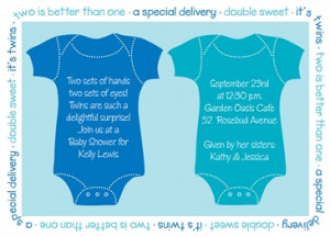 Home > Baby Shower > Baby Shower Invitations > Twin Shower Invitations ...