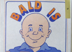 Vintage Bald is Beautiful scroll mini paper poster by lolatrail, $12 ...