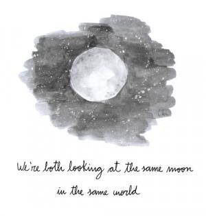 Black and White quotes moon watercolor haruki murakami sputnik ...