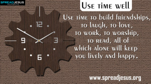 TIME MANAGEMENT QUOTES HD-WALLPAPERS FREE DOWNLOAD Use time well ...
