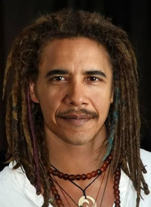 Funny Picture Of Obama With Long Hair