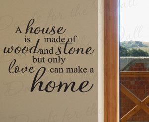 Love Makes Home Inspirational Family Adhesive Vinyl Decor Art Quote ...