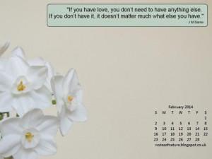 February Quotes Desktop calendar - february
