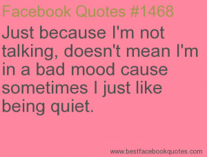Just Because I'm Quiet Quotes
