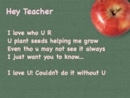 ... plant seeds helping me grow - teachers poem - i love my teacher quotes