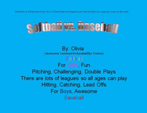 inspirational softball poems