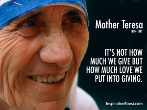 Mother Teresa Greatest Love Quotes