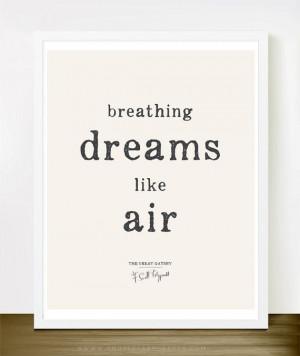... www.etsy.com/listing/184430670/breathing-dreams-like-air-8x10-on-a4